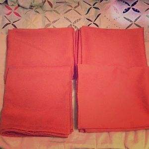 Donren Coral Pink Curtains x4 40x38in